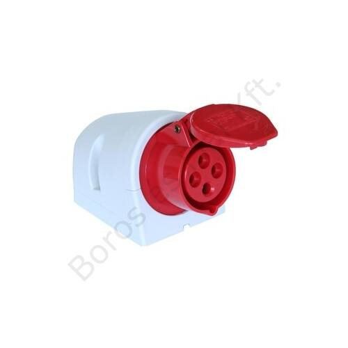 Ipari csatlakozó PCE 124-6 fali aljzat 32A/4P/400V