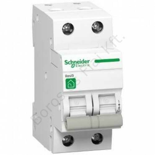 Schneider kismegszakító Resi R9 2P, 10A, 4,5kA C karakterisztika