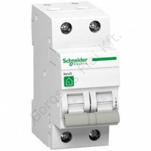 Schneider kismegszakító Resi R9 2P, 40A, 4,5kA C karakterisztika