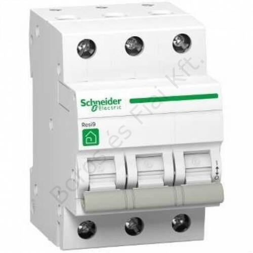 Schneider kismegszakító Resi R9 3P, 20A, 4,5kA C karakterisztika