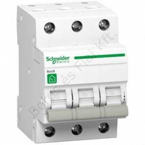 Schneider kismegszakító Resi R9 3P, 32A, 4,5kA C karakterisztika