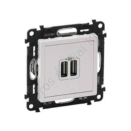 Legrand Valena Life USB töltőaljzat micro USB dokkolóval, beépített tápegységgel fehér (753112)