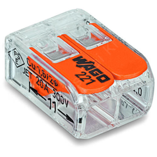 WAGO 221-412 Vezeték össszekötő oldható 2P 0,2-4mm2